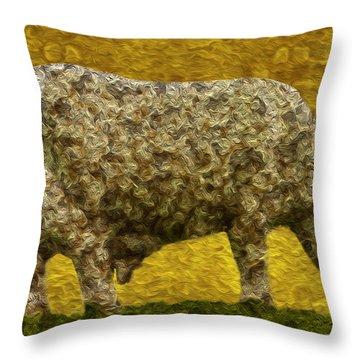 Grazing 2 Throw Pillow by Jack Zulli