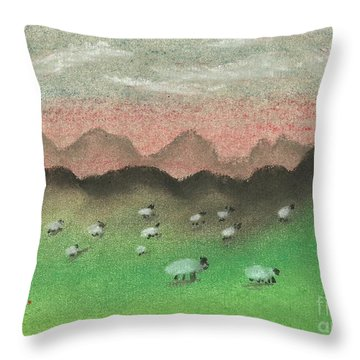 Grazing In The Hills Throw Pillow