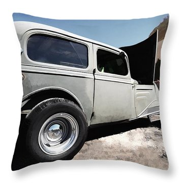 Throw Pillow featuring the photograph Greaserama 2011 by Liane Wright
