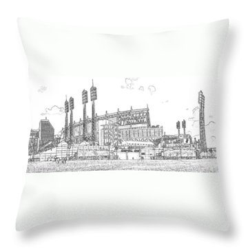 Great American Ball Park Line Throw Pillow