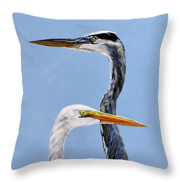 Great Blue And White Throw Pillow
