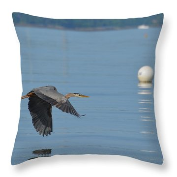 Great Blue Heron  Throw Pillow by DejaVu Designs