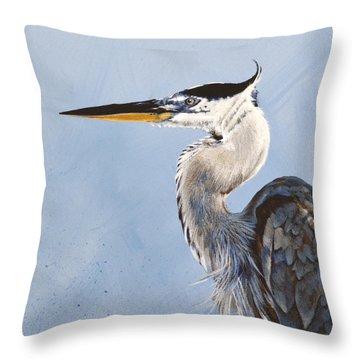 Great Blue II Throw Pillow