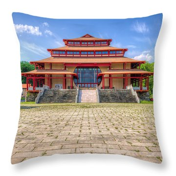 Great Buddha Hall Throw Pillow