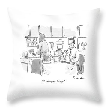Great Coffee Throw Pillow