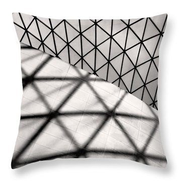 Throw Pillow featuring the photograph Great Court Abstract by Rona Black