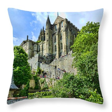 Great Day At The Mont Throw Pillow