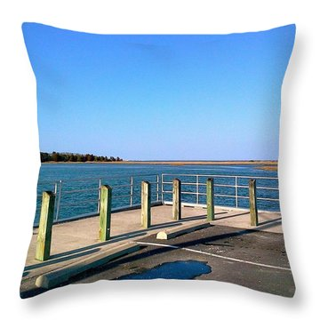Great Day For Fishing In The Marsh Throw Pillow by Amazing Photographs AKA Christian Wilson