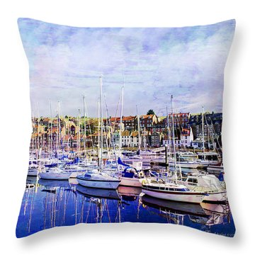 Great Day For Getting Out On The Water Featured In Abc-newbies And Photography And Textures Groups Throw Pillow by EricaMaxine  Price
