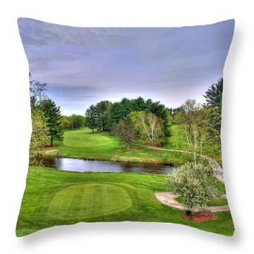 Great Day For Golf Throw Pillow by Thomas Young
