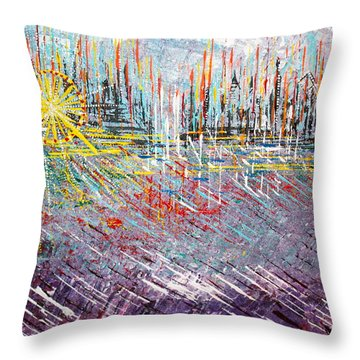 Great Day In Chicago - Sold Throw Pillow