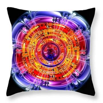 Throw Pillow featuring the digital art Great Energy by Pete Trenholm