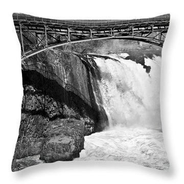 Great Falls In Paterson Nj Throw Pillow