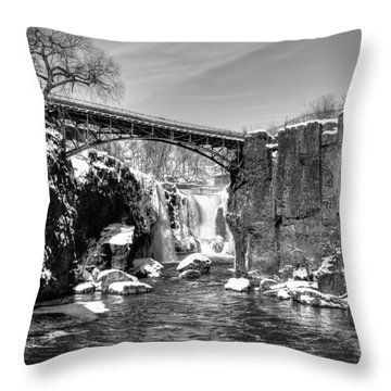 Great Falls In The Winter Throw Pillow