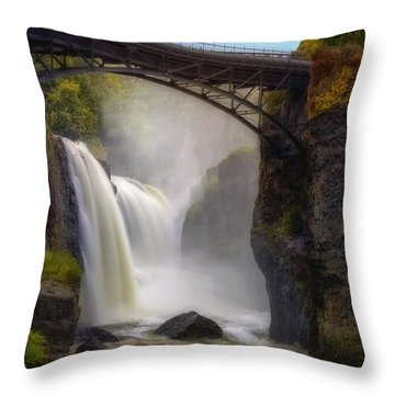 Great Falls Mist Throw Pillow