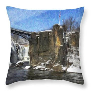 Great Falls Painted Throw Pillow