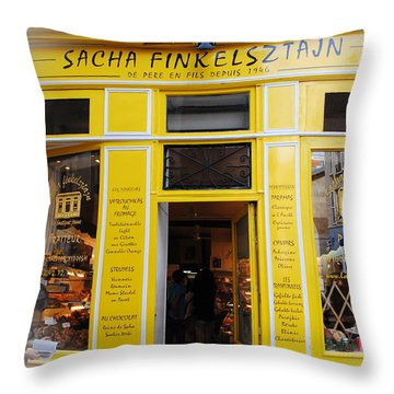 Throw Pillow featuring the photograph Great Food In Marais by Jacqueline M Lewis