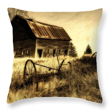 Great Grandfather's Barn II Throw Pillow