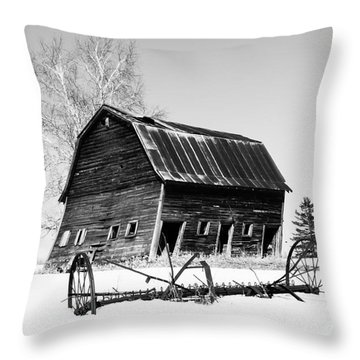 Great Grandfather's Barn Throw Pillow