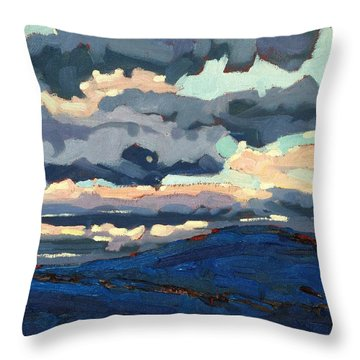 Great Horned Sunset Throw Pillow by Phil Chadwick