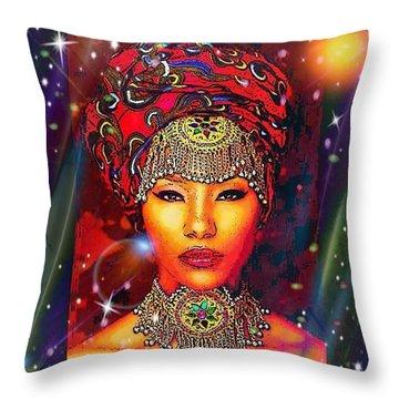 Great Lady Malkia Throw Pillow