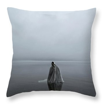 Great Lake Ghost Throw Pillow