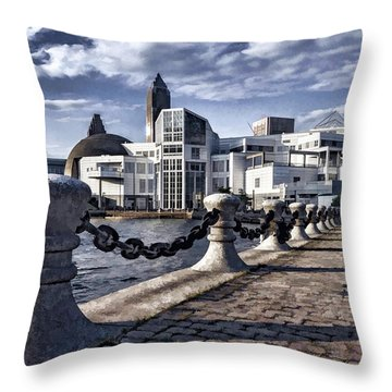 Throw Pillow featuring the photograph Great Lakes Science Center - Cleveland Ohio - 1 by Mark Madere