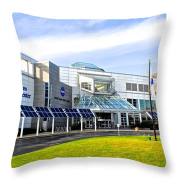 Great Lakes Science Center Throw Pillow by Frozen in Time Fine Art Photography
