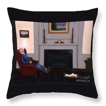 Great Minds Think Alike Throw Pillow