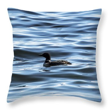 Great Northern Loon Throw Pillow