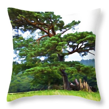 Great Pine Throw Pillow