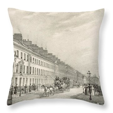 Great Pultney Street, Bath, C.1883 Throw Pillow