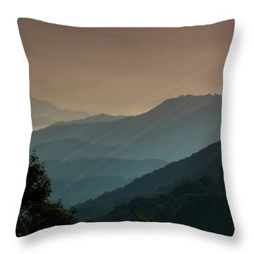 Great Smoky Mountains Blue Ridge Parkway Throw Pillow by Patti Deters