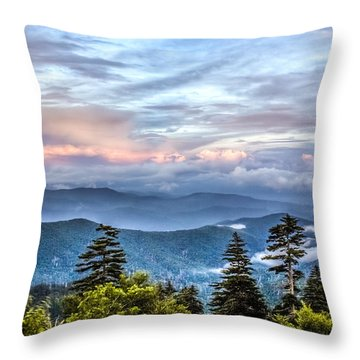 Throw Pillow featuring the photograph Great Smoky Mountains by Rob Sellers