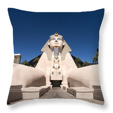 Great Sphinx Of Giza Luxor Resort Las Vegas Throw Pillow by Edward Fielding
