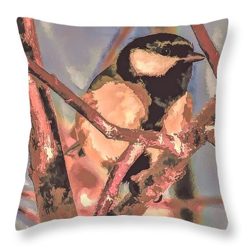 Great Tit  A  Leif Sohlman Throw Pillow