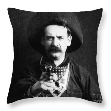 Great Train Robbery 1903 Throw Pillow by Granger