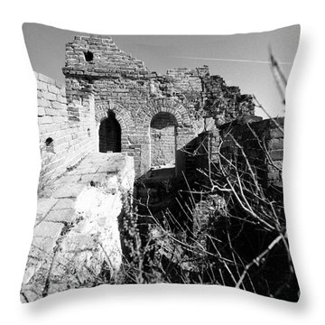 Great Wall Ruins Throw Pillow