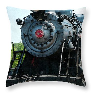 Great Western 90 Throw Pillow by Susan Savad