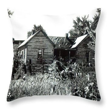 Greatgrandmother's House Throw Pillow