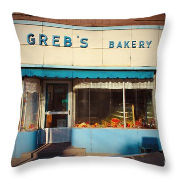 Greb's Bakery Pittsburgh Throw Pillow by Jim Zahniser