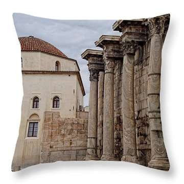 Grecian Columns Throw Pillow