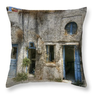 Greece Before The Tourists Throw Pillow
