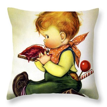 Greedy Petey Throw Pillow