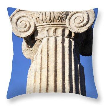 Greek Column Throw Pillow