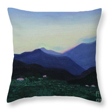 Greek Countryside Throw Pillow