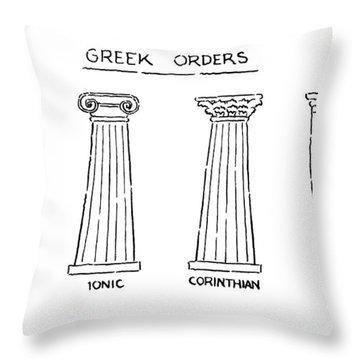 Greek Orders Throw Pillow