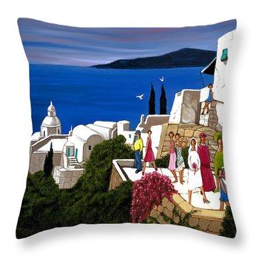 Greek Wedding Throw Pillow