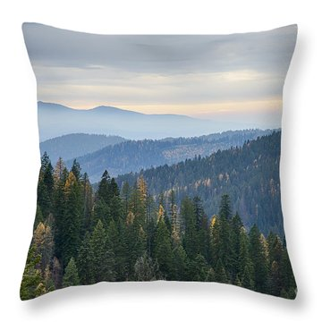 Green And Gold Forest Throw Pillow