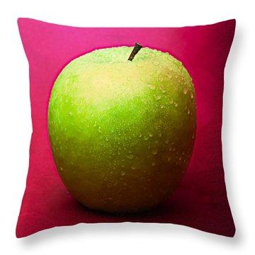 Green Apple Whole 1 Throw Pillow by Alexander Senin